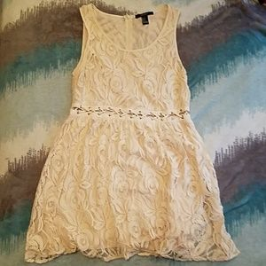 Peach Forever 21 lace dress